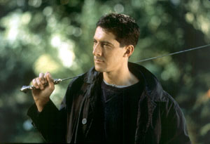 Methos with Sword on Shoulder.