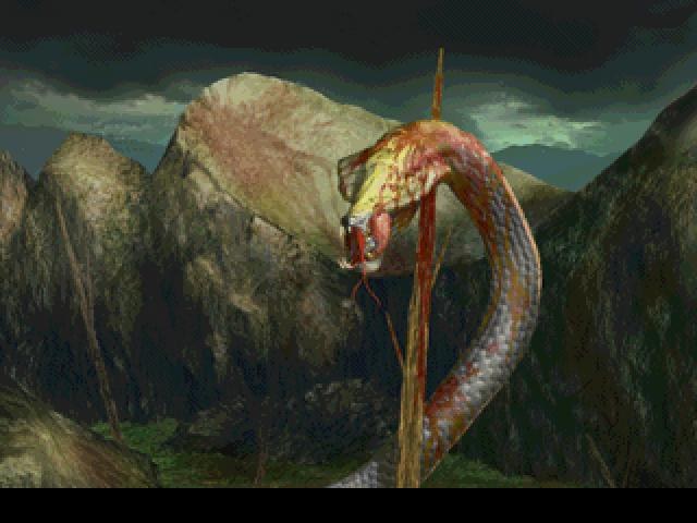 The Snake Impaled by Sephiroth.