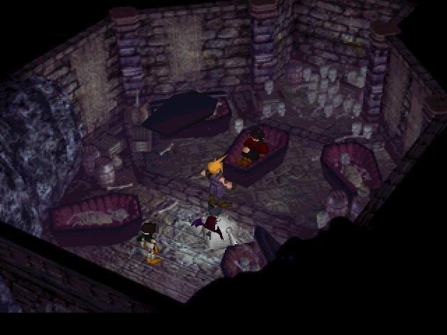 Vincent Valentine In His Coffin.